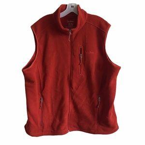 L.L. Bean Mens Burnt Orange Sweater Vest Jacket